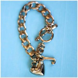 Gold Juicy Couture Charm Bracelet